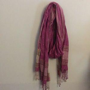 Purple h&m scarf